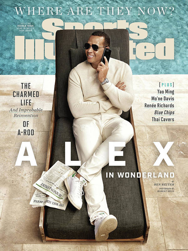 Magazine Cover Poster featuring the photograph Alex Rodriguez, Where Are They Now Sports Illustrated Cover by Sports Illustrated