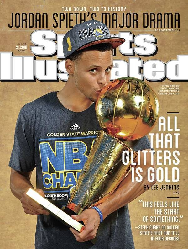 Magazine Cover Poster featuring the photograph All That Glitters Is Gold Sports Illustrated Cover by Sports Illustrated