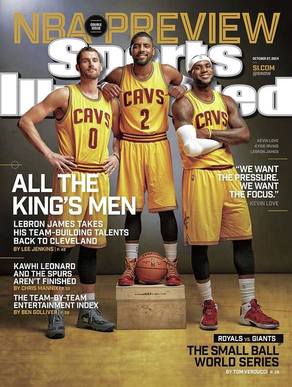 Magazine Cover Poster featuring the photograph All The Kings Men 2014-15 Nba Basketball Preview Issue Sports Illustrated Cover by Sports Illustrated