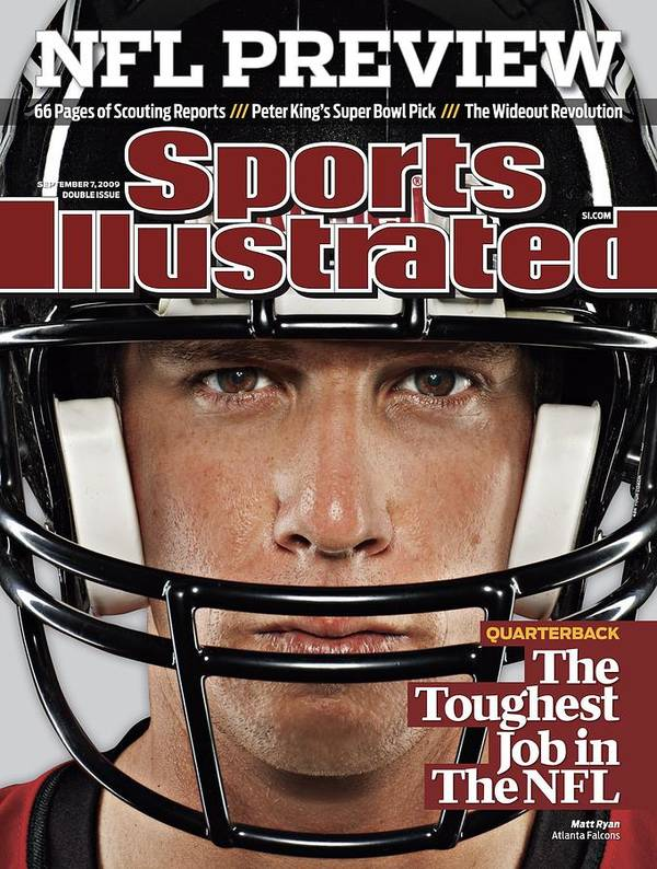 Season Poster featuring the photograph Atlanta Falcons Qb Matt Ryan, 2009 Nfl Football Preview Sports Illustrated Cover by Sports Illustrated