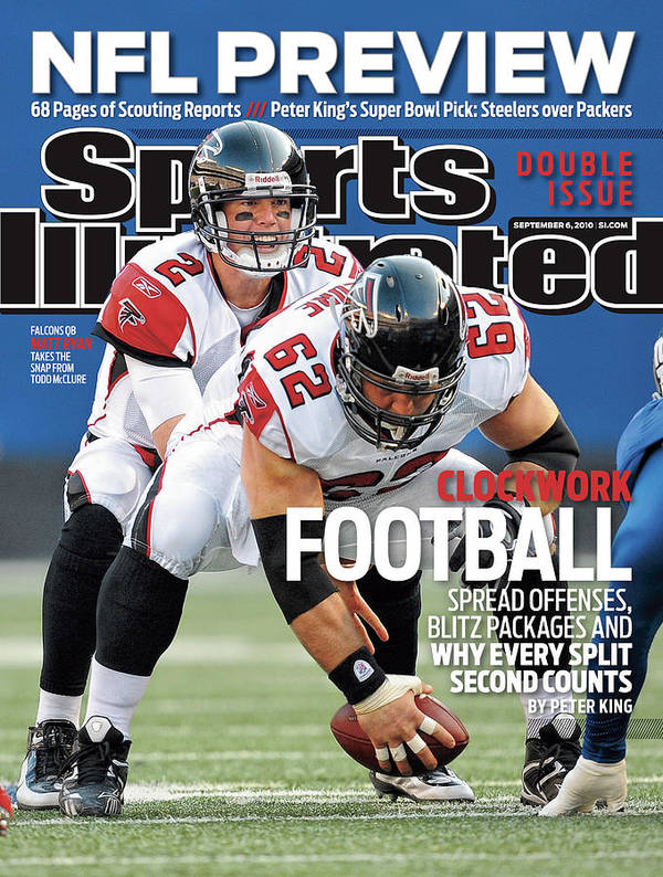 Magazine Cover Poster featuring the photograph Atlanta Falcons V New York Giants Sports Illustrated Cover by Sports Illustrated