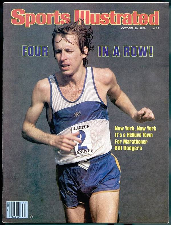Magazine Cover Poster featuring the photograph Bill Rogers, 1979 New York City Marathon Sports Illustrated Cover by Sports Illustrated