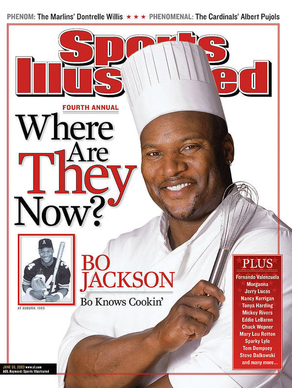 Magazine Cover Poster featuring the photograph Bo Jackson, Where Are They Now Sports Illustrated Cover by Sports Illustrated