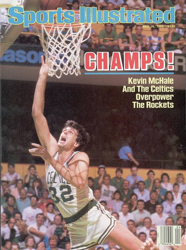 Playoffs Poster featuring the photograph Boston Celtics Kevin Mchale, 1986 Nba Finals Sports Illustrated Cover by Sports Illustrated