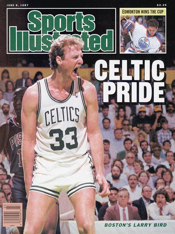Playoffs Poster featuring the photograph Boston Celtics Larry Bird, 1987 Nba Eastern Conference Sports Illustrated Cover by Sports Illustrated