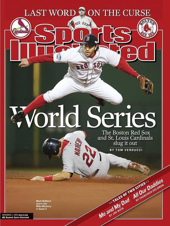 St. Louis Cardinals Poster featuring the photograph Boston Red Sox Mark Bellhorn, 2004 World Series Sports Illustrated Cover by Sports Illustrated