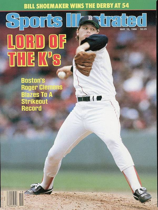 1980-1989 Poster featuring the photograph Boston Red Sox Roger Clemens... Sports Illustrated Cover by Sports Illustrated