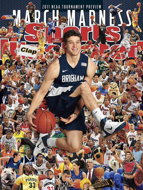 Provo Poster featuring the photograph Brigham Young University Jimmer Fredette, 2011 March Sports Illustrated Cover by Sports Illustrated