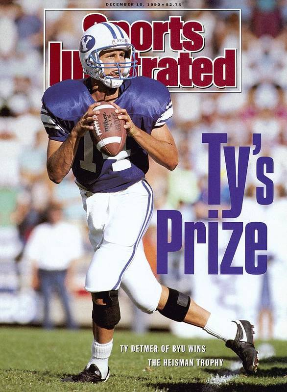 Provo Poster featuring the photograph Brigham Young University Qb Ty Detmer Sports Illustrated Cover by Sports Illustrated