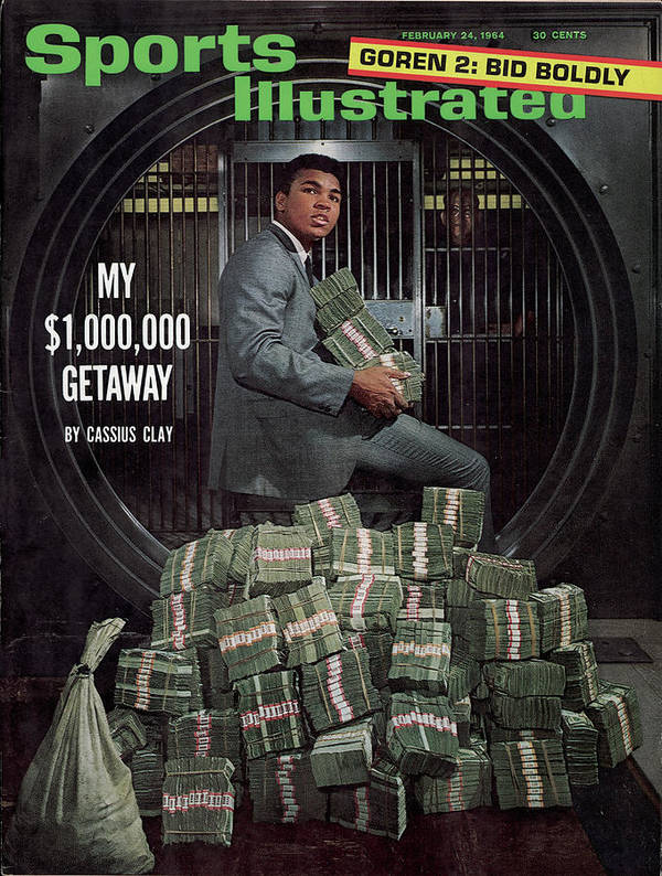 Magazine Cover Poster featuring the photograph Cassius Clay, Heavyweight Boxing Sports Illustrated Cover by Sports Illustrated