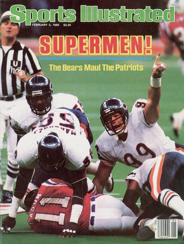 1980-1989 Poster featuring the photograph Chicago Bears Dan Hampton, Super Bowl Xx Sports Illustrated Cover by Sports Illustrated