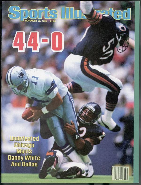chicago bears dave duerson and mike singletary sports illustrated cover poster