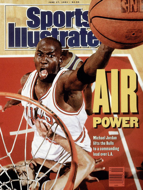 Playoffs Poster featuring the photograph Chicago Bulls Michael Jordan, 1991 Nba Finals Sports Illustrated Cover by Sports Illustrated