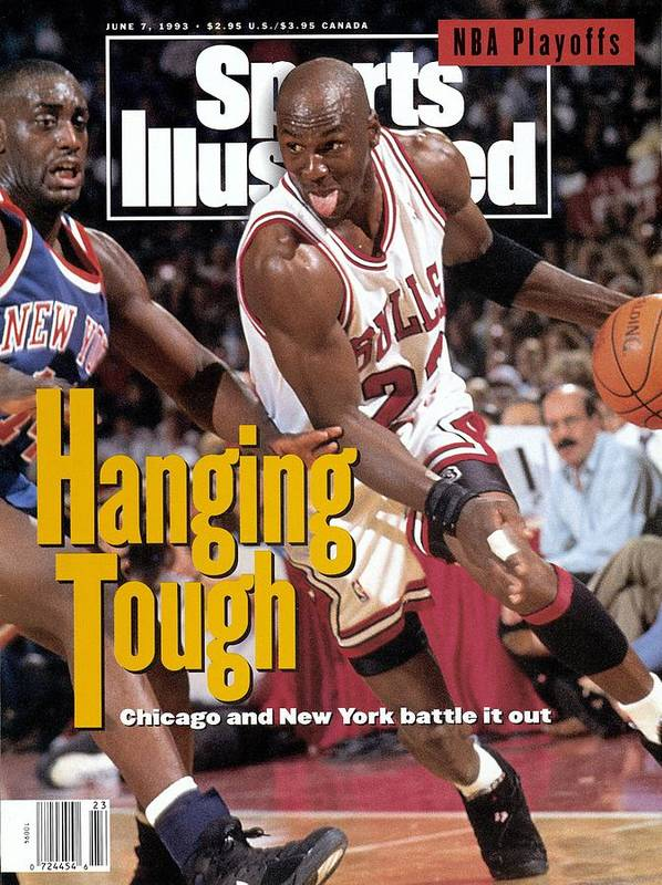 Playoffs Poster featuring the photograph Chicago Bulls Michael Jordan, 1993 Nba Eastern Conference Sports Illustrated Cover by Sports Illustrated