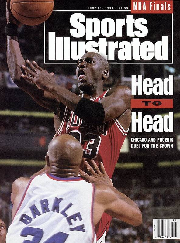 Playoffs Poster featuring the photograph Chicago Bulls Michael Jordan, 1993 Nba Finals Sports Illustrated Cover by Sports Illustrated