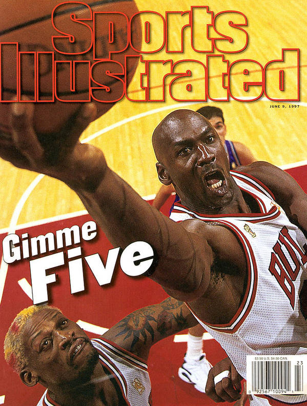Magazine Cover Poster featuring the photograph Chicago Bulls Michael Jordan, 1997 Nba Finals Sports Illustrated Cover by Sports Illustrated