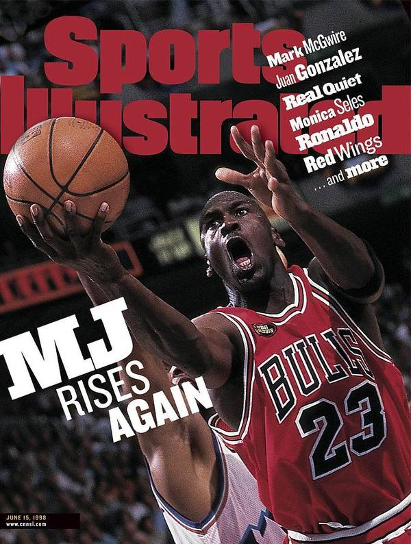 Playoffs Poster featuring the photograph Chicago Bulls Michael Jordan, 1998 Nba Finals Sports Illustrated Cover by Sports Illustrated