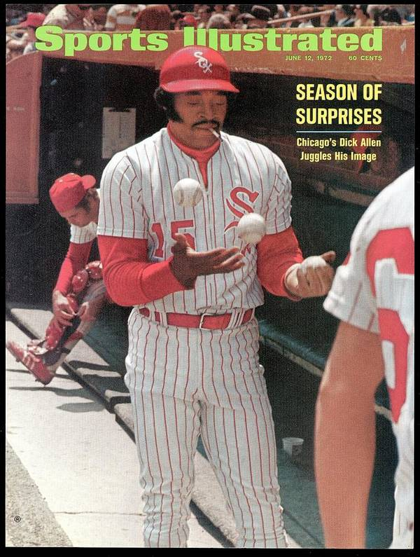 Magazine Cover Poster featuring the photograph Chicago White Sox Dick Allen... Sports Illustrated Cover by Sports Illustrated