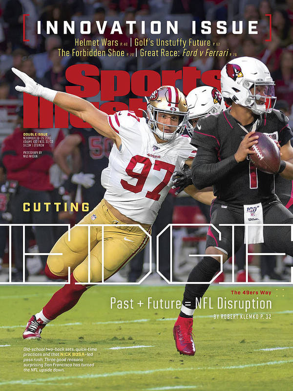 Magazine Cover Poster featuring the photograph Cutting Edge The 49ers Way Sports Illustrated Cover by Sports Illustrated