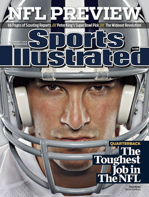 Season Poster featuring the photograph Dallas Cowboys Qb Tony Romo, 2009 Nfl Football Preview Sports Illustrated Cover by Sports Illustrated