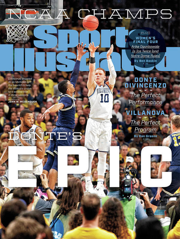Magazine Cover Poster featuring the photograph Dantes Epic Donte Divincenzo, The Perfect Performance Sports Illustrated Cover by Sports Illustrated