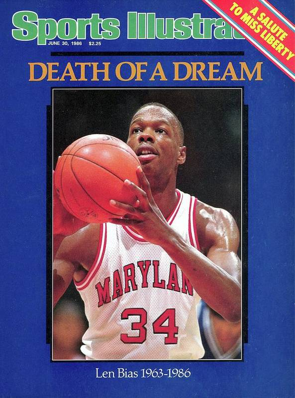 Cocaine Poster featuring the photograph Death Of A Dream University Of Maryland Len Bias, 1963-1986 Sports Illustrated Cover by Sports Illustrated