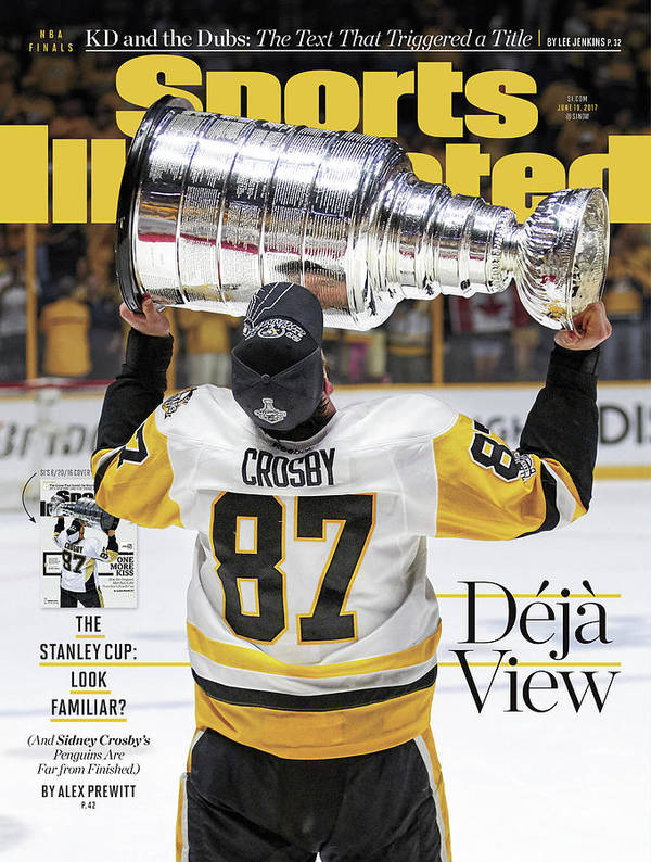 Magazine Cover Poster featuring the photograph Deja View. The Stanley Cup Look Familiar Sports Illustrated Cover by Sports Illustrated