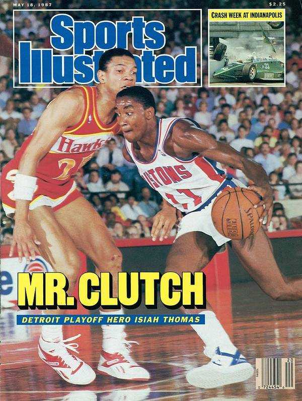 Atlanta Poster featuring the photograph Detroit Pistons Isiah Thomas, 1987 Nba Eastern Conference Sports Illustrated Cover by Sports Illustrated