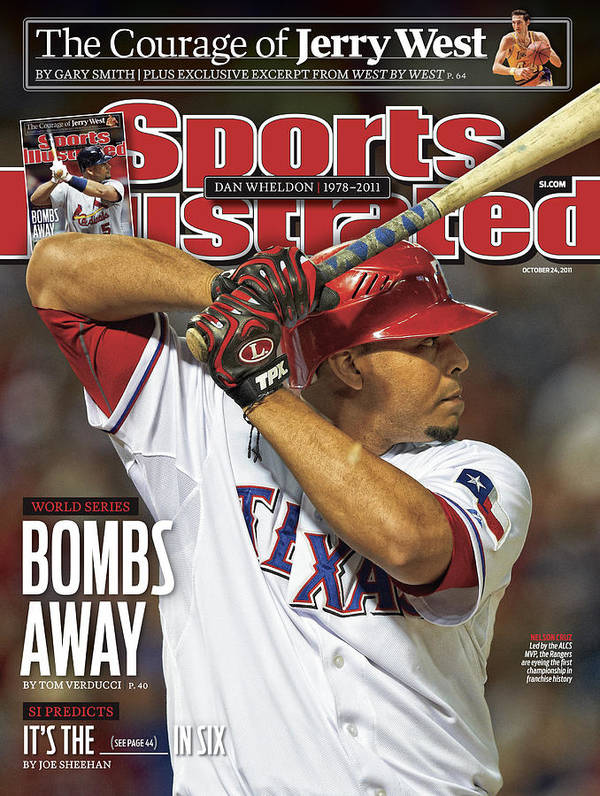 Magazine Cover Poster featuring the photograph Detroit Tigers V Texas Rangers - Game 6 Sports Illustrated Cover by Sports Illustrated