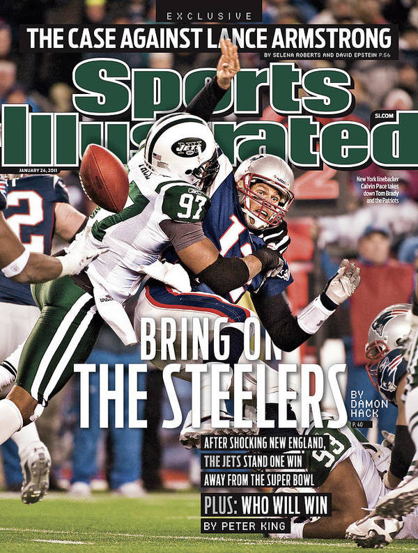 Magazine Cover Poster featuring the photograph Divisional Playoffs - New York Jets V New England Patriots Sports Illustrated Cover by Sports Illustrated