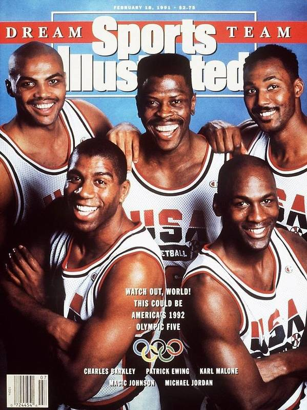 The Olympic Games Poster featuring the photograph Dream Team, 1992 Barcelona Olympic Games Preview Sports Illustrated Cover by Sports Illustrated