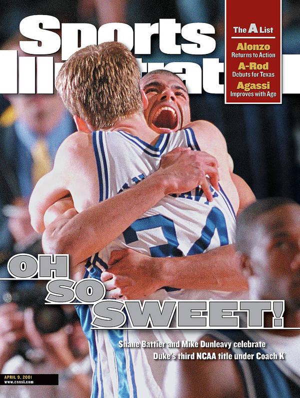 Magazine Cover Poster featuring the photograph Duke University Shane Battier, 2001 Ncaa National Sports Illustrated Cover by Sports Illustrated