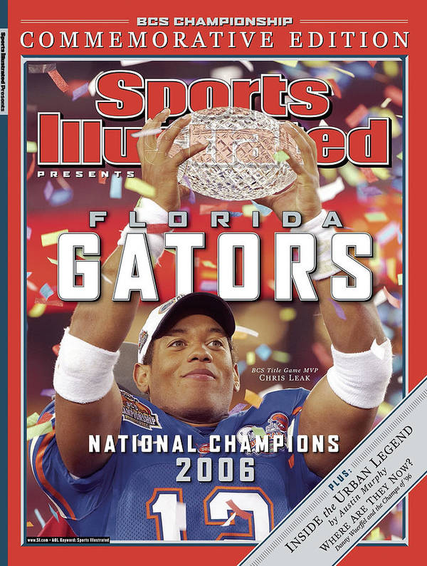 Magazine Cover Poster featuring the photograph Florida Qb Chris Leak, 2007 Bcs National Championship Game Sports Illustrated Cover by Sports Illustrated