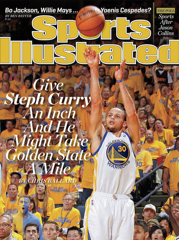 Magazine Cover Poster featuring the photograph Give Steph Curry An Inch And He Might Take Golden State A Sports Illustrated Cover by Sports Illustrated
