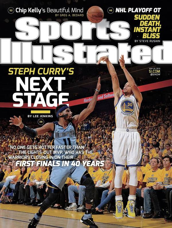 Magazine Cover Poster featuring the photograph Golden State Warriors Vs Memphis Grizzlies, 2015 Nba Sports Illustrated Cover by Sports Illustrated