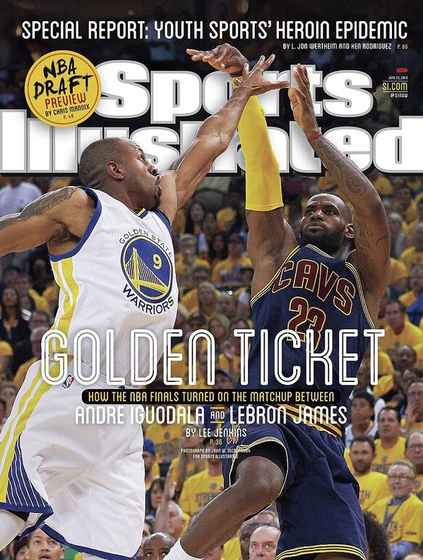 Magazine Cover Poster featuring the photograph Golden Ticket How The Nba Finals Turned On The Matchup Sports Illustrated Cover by Sports Illustrated
