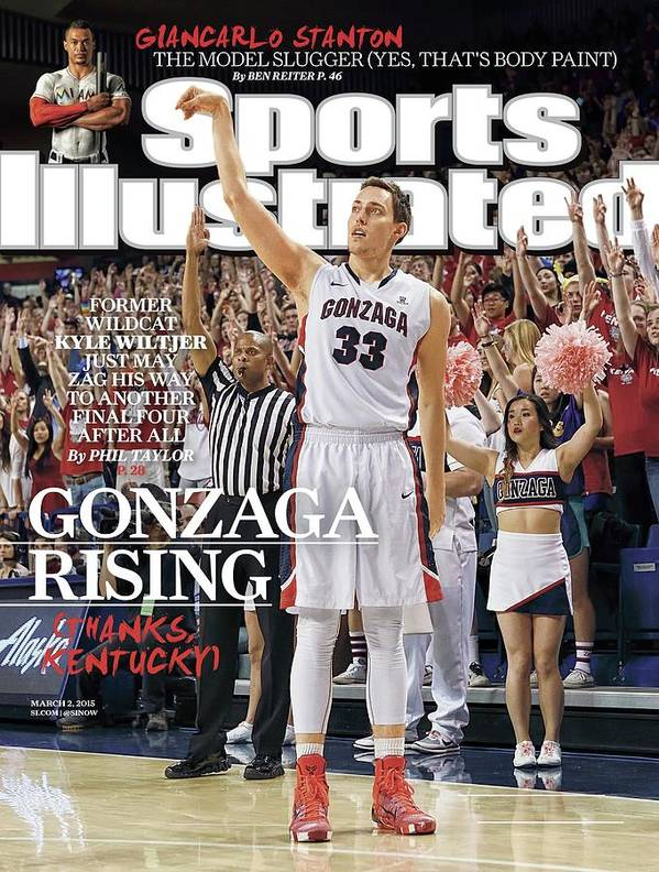 Magazine Cover Poster featuring the photograph Gonzaga Rising Sports Illustrated Cover by Sports Illustrated