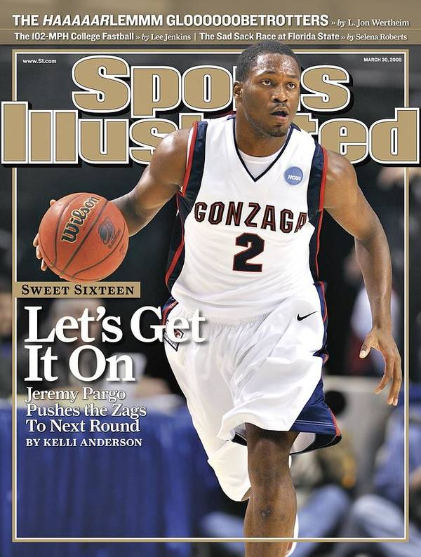 Playoffs Poster featuring the photograph Gonzaga University Jeremy Pargo, 2009 Ncaa South Regional Sports Illustrated Cover by Sports Illustrated