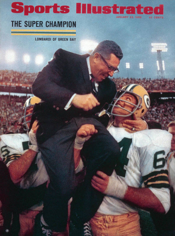 Magazine Cover Poster featuring the photograph Green Bay Packers Coach Vince Lombardi, Super Bowl II Sports Illustrated Cover by Sports Illustrated