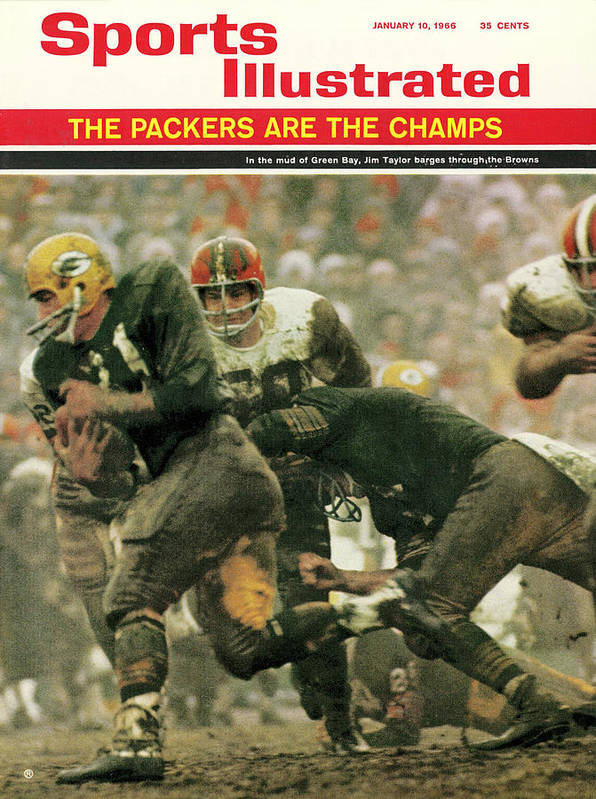 Green Bay Poster featuring the photograph Green Bay Packers Jimmy Taylor, 1966 Nfl Championship Sports Illustrated Cover by Sports Illustrated