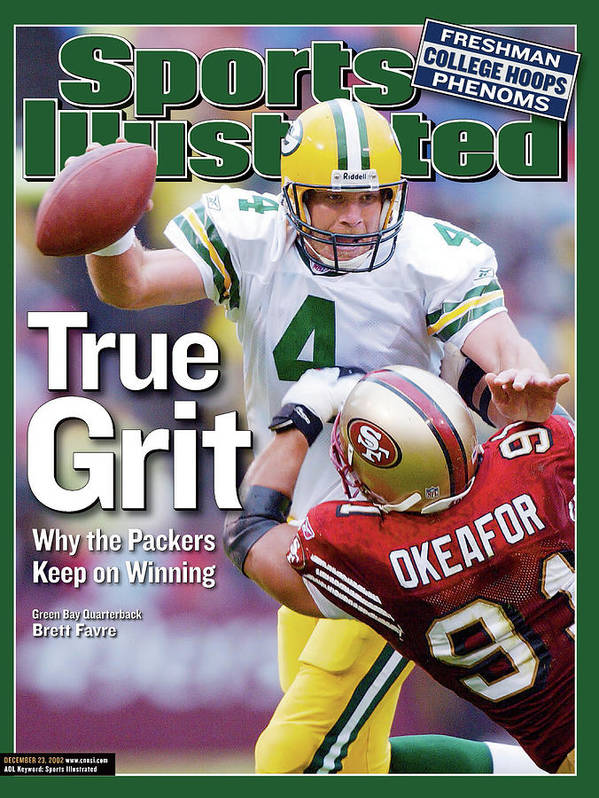 Brett Favre Poster featuring the photograph Green Bay Packers Qb Brett Favre... Sports Illustrated Cover by Sports Illustrated