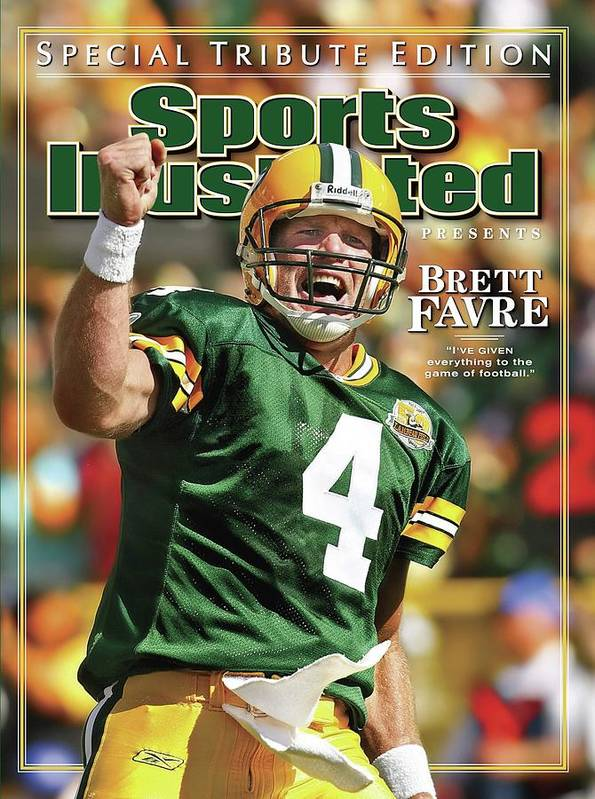 Green Bay Poster featuring the photograph Green Bay Packers Qb Brett Favre Special Tribute Edition Sports Illustrated Cover by Sports Illustrated