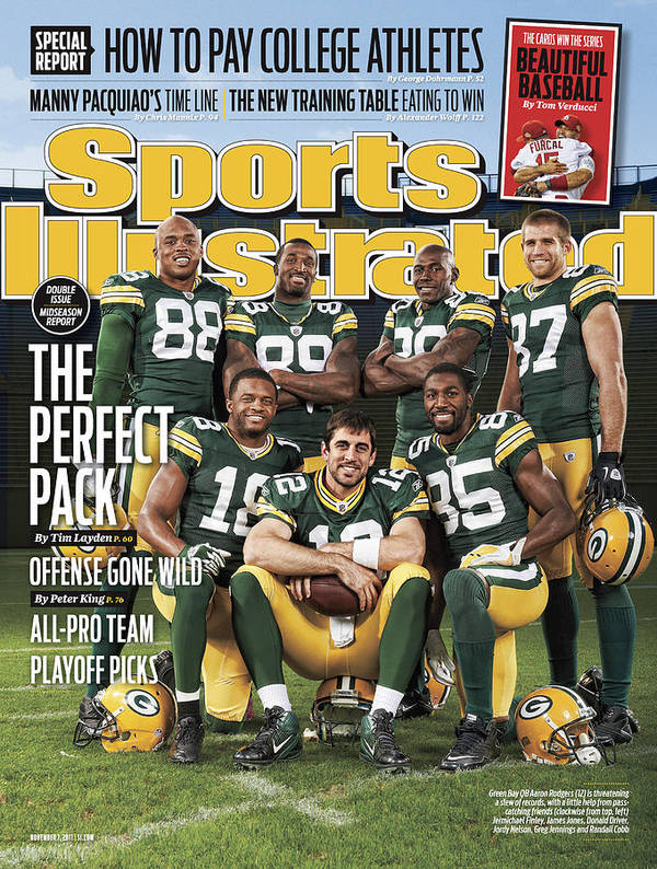 Green Bay Poster featuring the photograph Green Bay Packers The Perfect Pack Sports Illustrated Cover by Sports Illustrated