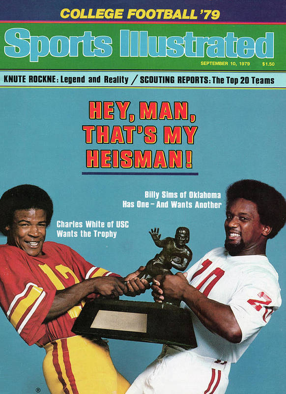 Season Poster featuring the photograph Hey, Man, Thats My Heisman 1979 College Football Preview Sports Illustrated Cover by Sports Illustrated