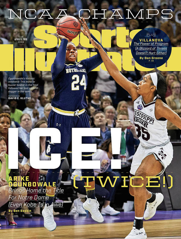 Point Poster featuring the photograph Ice Twice Arike Ogunbowale Brings Home The Title For Notre Sports Illustrated Cover by Sports Illustrated