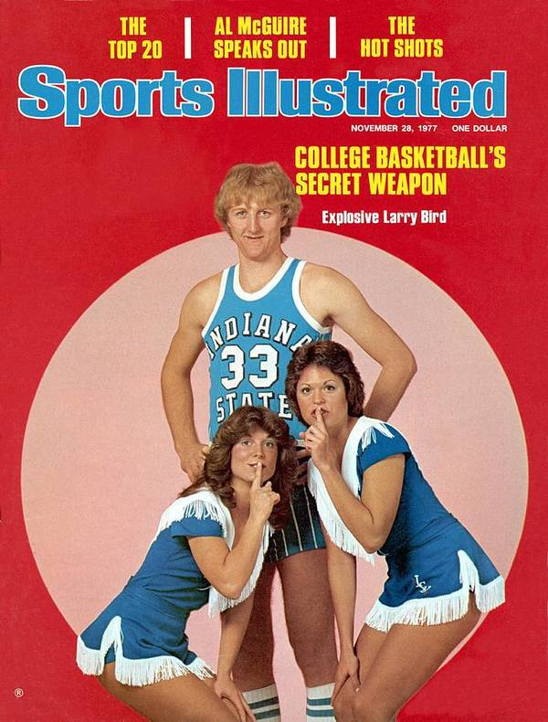 Magazine Cover Poster featuring the photograph Indiana State Larry Bird Sports Illustrated Cover by Sports Illustrated