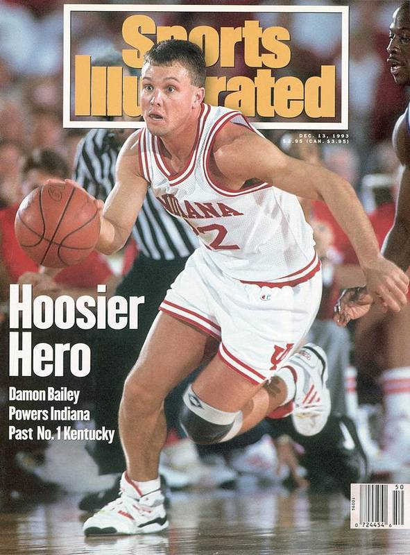 Sports Illustrated Poster featuring the photograph Indiana University Damon Bailey Sports Illustrated Cover by Sports Illustrated