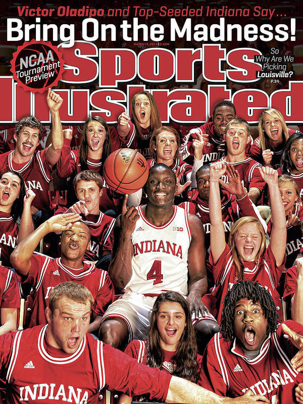 Magazine Cover Poster featuring the photograph Indiana University Victor Oladipo, 2013 March Madness Sports Illustrated Cover by Sports Illustrated