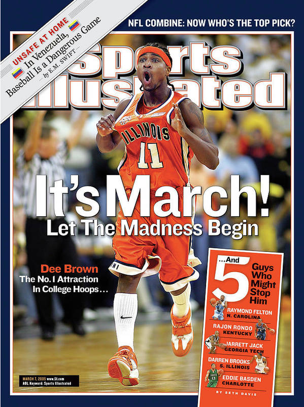 Magazine Cover Poster featuring the photograph Its March Let The Madness Begin Sports Illustrated Cover by Sports Illustrated