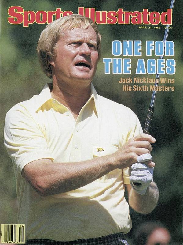 1980-1989 Poster featuring the photograph Jack Nicklaus, 1986 Masters Sports Illustrated Cover by Sports Illustrated
